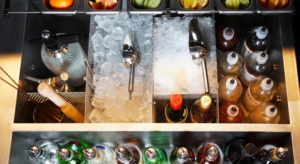 Bar sur mesure, station de bar custom en inox, nos projets